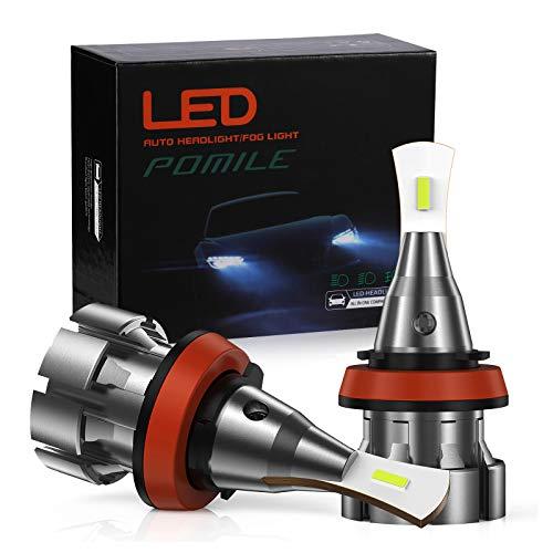 POMILE Bombillas LED antiniebla H8 / H9 / H11, 6000K blanco, 20W 3000LM, IP68...