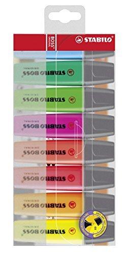 STABILO BOSS Original Marcador fluorescente multicolor- Estuche con 8 colores