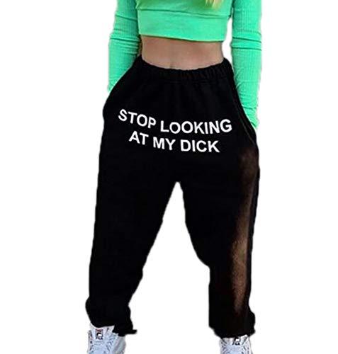 Stop Looking at My DICK Jogger Hose Kurze Hose, Stop Looking at My Tits T-Shirt Kapuzenpullover