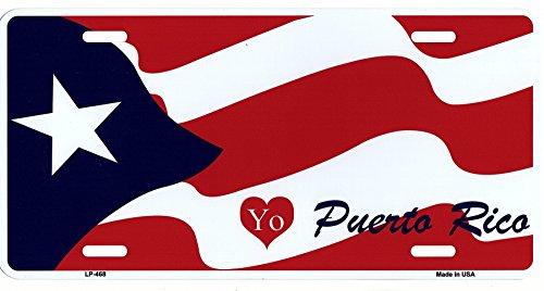 LP - 468 I Love Puerto Rico License Plate - 2020
