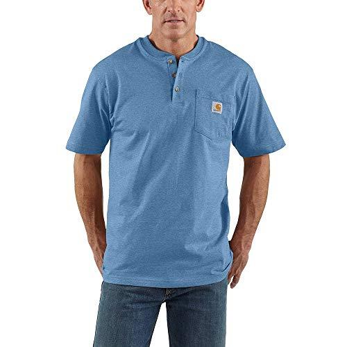 Carhartt Men's Workwear Pocket Henley Shirt (Regular and Big & Tall Sizes), Coastal Heather, 2X-Large/Tall