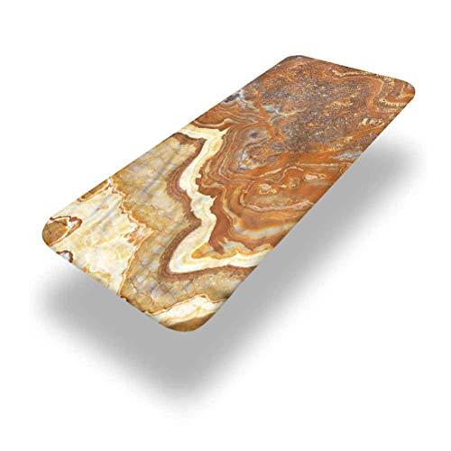LCGGDB Mantel ajustable de poliéster de mármol para mesa de picnic, faceta de travertino natural, con bordes elásticos, 91,4 x 243,8 cm, para camping, comedor, al aire libre, parque, patio