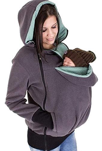 Beautisun Hoodie Damen Babytrage Baby Carrier Hoodies Neugeborene Känguru Kangaroo Mantel Warme Sweatshirt Jacken Hoodie Freizeitjacke