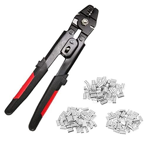 Cable de alambre Herramienta de mano Herramienta que prensa Swager Alicates Crimper Loop mangas 0,1 mm-2 mm con M1.2 M1.5 M2.0 Double Barrel virola, herramienta que prensa