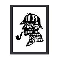 アートフレーム シャーロック・ホームズ アートパネル 木製額縁 ポスター 飾り絵 フォトフレーム インテリア 壁掛け 壁アート インテリアパネル インテリア絵画 モダンアート 壁ポスター モダン 30*40 横 縦 プレゼント