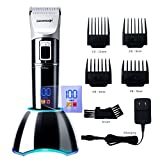 DEERCON Cordless Hair Clippers for Men Beard Trimmer Professional Barber Salon Hair Trimmer Grooming Cutting Kit Rechargeable with Charging Dock Guide Combs Fast Charge