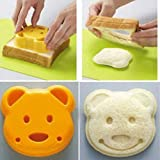 Lankater Bear Cookie Pastry Cutter, Sandwich Bread Biscuits Cutter Mold, Sandwich Embossed Device