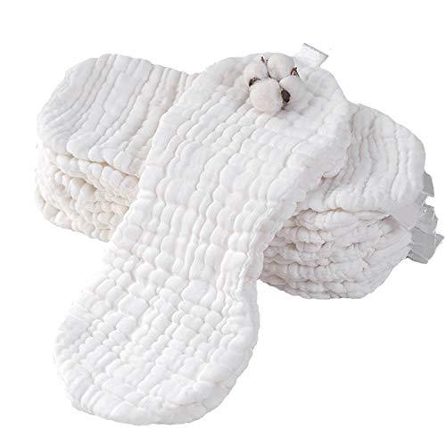 SNOWINSPRING 12 Schichten Wiederverwendbare ?Kologische Baumwolle Baby Windel Gaze Waschbar Neugeborene Stoff Weiche Windeln, 12 Artikel/Set