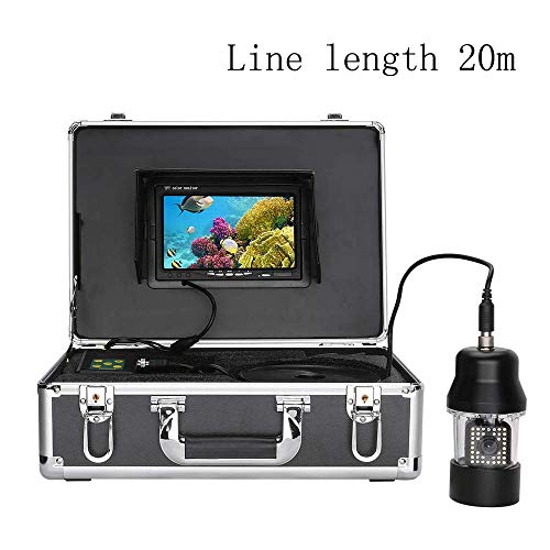 Onderwater vis finder video-opname 7 inch LCD-scherm 360 graden rotatie camera 700TVL 38pcs infrarood White LED-licht waterdicht zhihao (Color : 20m)