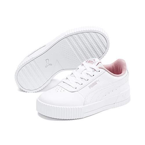 PUMA Carina L Kids Mädchen Sneaker Puma White-Puma White UK 1.5_Youth_FR 34