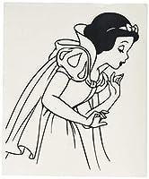 カインドストア MacBook Air/Pro 11 / 13インチ マックブック ステッカー シール 白雪姫 りんごにキスする白雪姫 11インチ ブラック M751-11-B