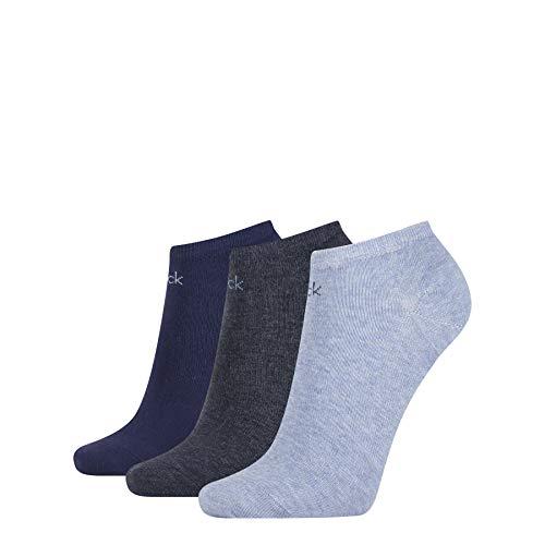 Calvin Klein Socks Womens Logo Women's (3 Pack) Liner Socks, Denim Combo, ONE SIZE