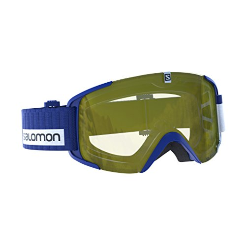 SALOMON, Gafas de esquí Unisex, Tiempo nuboso, Pantalla Amarillo Claro con...