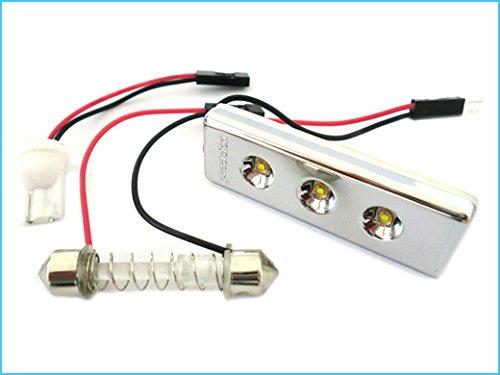 LED paneel plafondlamp Cortesia Auto 3 Smd PCB Osram wit 12V T10 en Siluro