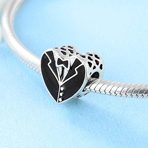 DASFF bruidsjurk van 925 sterling zilver in hartvorm om te knutselen en voor het maken van sieraden