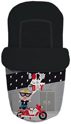 Baby Star 25487 – Sac pour siège universelle, couleur noir et gris