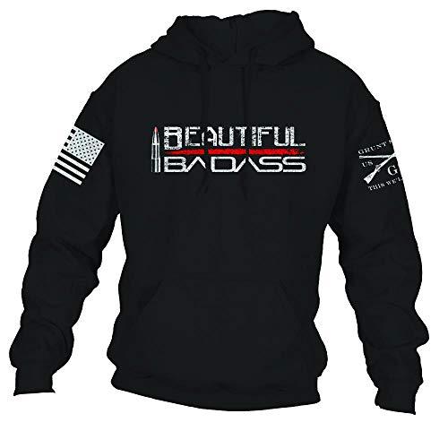 Grunt Style Beautiful Badass Hoodie 2.0 (Black, Large)