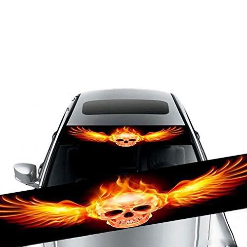 Auto Front Universal Windschutzscheibe Sonnenschutz Visier Aufkleber, 3D Aufkleber Auto Windschutzscheibe Sonnenschutz Cartoon Augen, halten Sie Ihr Fahrzeug cool UV Sonne und Hitze Reflecto