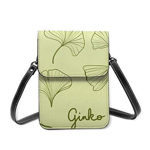 Adorable sac à main pour téléphone portable - Motif girafe et fille - Léger - Avec emplacements pour cartes - Jaune - Ginkgo Biloba., Taille unique