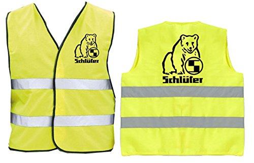 Schlüter Warnweste | Gelb | Brust- und Rückendruck | Größe XXL