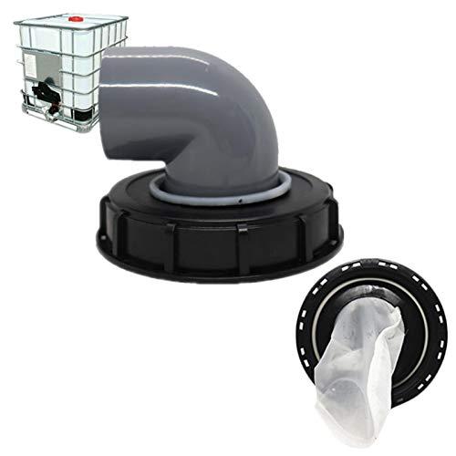 Suppemie IBC Couvercle IBC en nylon pour réservoir d'eau de pluie IBC 1000 litres avec aération et filtre en nylon pour installation sur le réservoir d'eau de pluie IBC