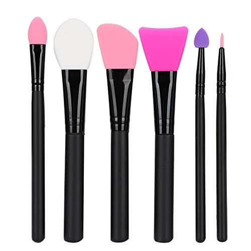 Puzzle Mascarilla De Silicona Suave Cepillo De Maquillaje Juego De Brochas Herramienta De Maquillaje Facial 6pcs Profesional