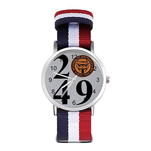 Blade Runner 2049 Tyrell Replicants Logo Freizeit Armbanduhr Geflochtene Uhr mit Skala