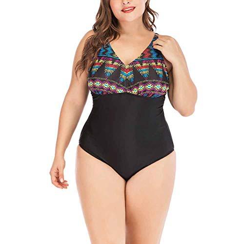 CHIYEEE Vrouwen Een Stuk Monokini Plus Size Print Badmode Dames Badpak Badpak Backless Zwemkostuum S-5XL