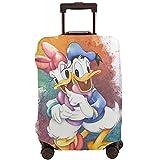 Donald Cartoon Duck - Maleta de viaje resistente a los arañazos, a prueba de polvo, elástico y flexible para equipaje de viaje, White (Blanco) - 364487727
