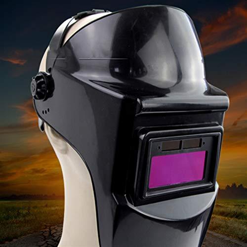 Casco de soldadura profesional, Batería Portátil Solar LI Automática Oscuramiento Cascos de soldadura eléctrica/Tapa del soldador for la máquina de soldadura Accesorios de soldadura