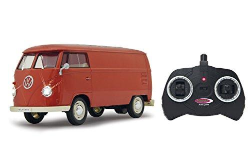 Jamara 405120 - VW T1 Transporter 1:16 2-kanaals 2,4 GHz - LED-verlichting, gedetailleerde binnenruimte, voertuigdetails in chroom: ruitenwissers, wieldoppen, buitenspiegel, deurgrepen, koplamphouder