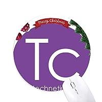 化学元素周期表遷移金属 クリスマスツリーの滑り止めゴム形のマウスパッド