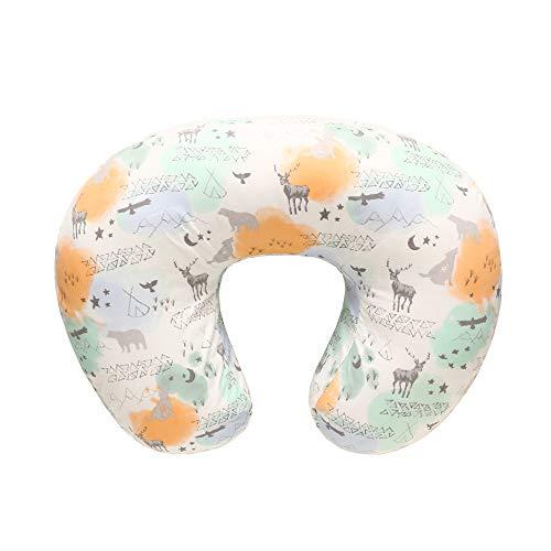 Funda de almohada para lactancia, 100% algodón natural Funda de almohada para lactancia, Cojín de lactancia extra suave(Flor)
