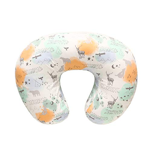 LAT Funda para cojín de lactancia,Almohadas para lactancia, Funda de almohada para embarazadas 100% algodón para, Estuche para almohada para lactantes recién nacido(Animal)