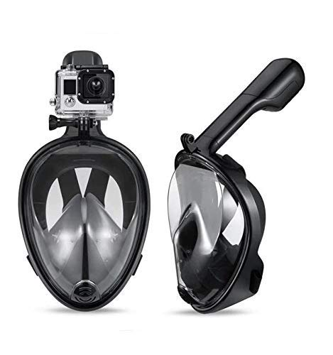 Happy2Buy Revolutionary Full Dry, Anti Fog, 180 Degree Vision Snorkeling Mask (Black, X/S - 9 to 11 Age Group)