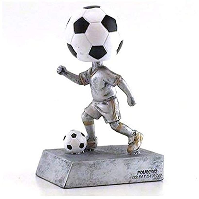 Decade Awards Soccer Bobblehead Trophy   Futbol Bobblehead Award   5.5 Inch Tall - Free Engraved Plate on Request