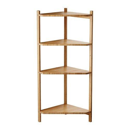 IKEA RÅGRUND Eckregal aus Bambus