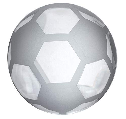 Amlong Crystal Soccer Ball Paperweight 3 inch with Gift Box