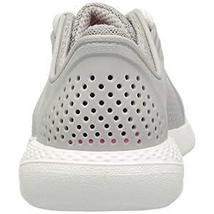 Crocs womens Literide Pacer Sneaker, Pearl White, 10 US