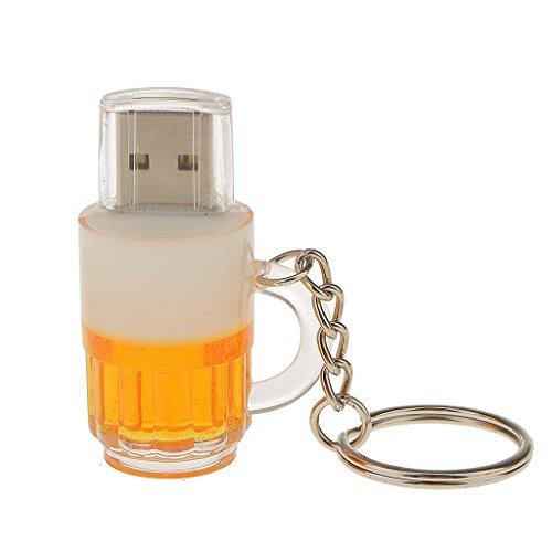 Birra Boccale Ad Alta Velocità USB 2.0 Flash Pen Drive Memoria Disco con Portachiavi - 16GB