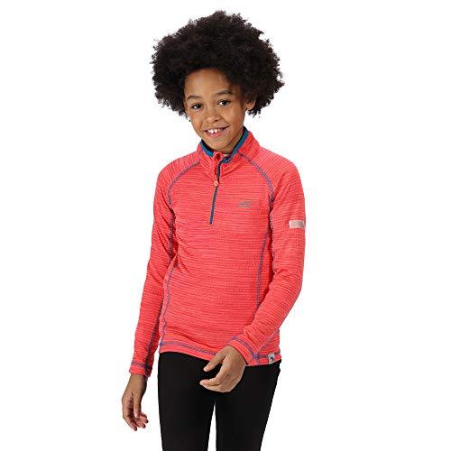 Regatta Kinder T-Shirt/Poloshirt/Unterhemden mit halbem Reißverschluss 3XL Fiery Coral