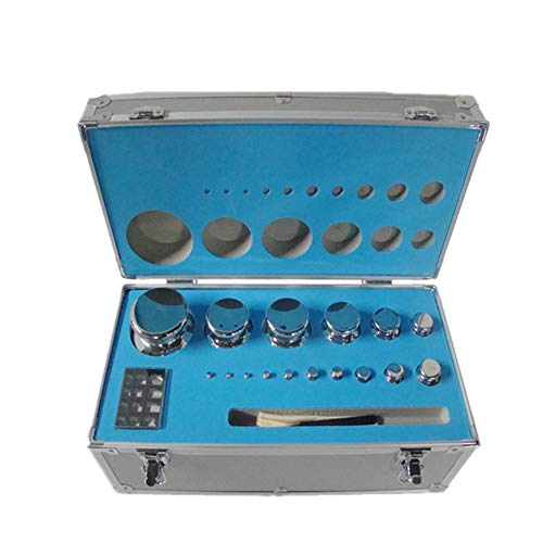 CGOLDENWALL - Juego de pesas de calibración para balanza digital (1 mg/5 kg)
