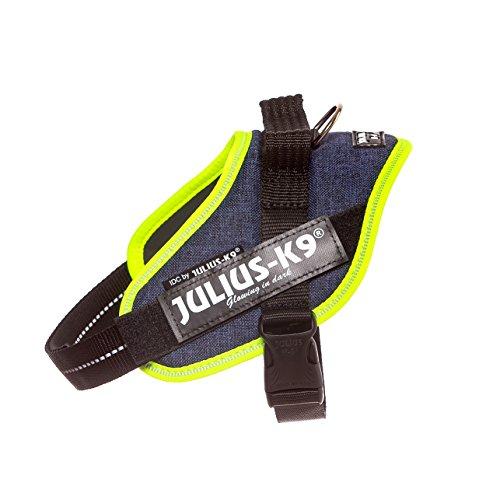 Julius-K9 16IDC-FARNE-M IDC Powerharness, Dog Harness, Size Mini, Jeans with Neon Edge