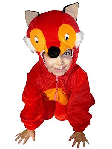 Fuchs-Kostüm, F21 Gr. 98-104, für Kinder, Fuchs-Kostüme Füchse für Fasching Karneval, Klein-Kinder Karnevalskostüme, Kinder-Faschingskostüme, Geburtstags-Geschenk Weihnachts-Geschenk