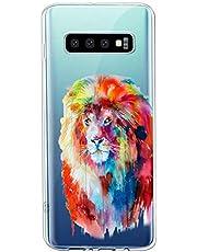 Oihxse Compatible con Galaxy J4 Prime/J4 Plus/J6 Prime/J6 Plus Funda Suave Gel TPU Silicona Cristal Transparente Carcasa Acuarela Animal Pintado Patrón Protectora Estuche Bumper Caso Case (B3)