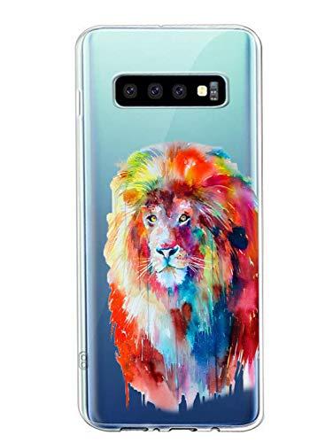 Oihxse Compatible con Samsung Galaxy J8 2018/ON8 Funda Suave Gel TPU Silicona Cristal Transparente Carcasa Acuarela Animal Pintado Patrón Protectora Estuche Bumper Caso Case (B3)