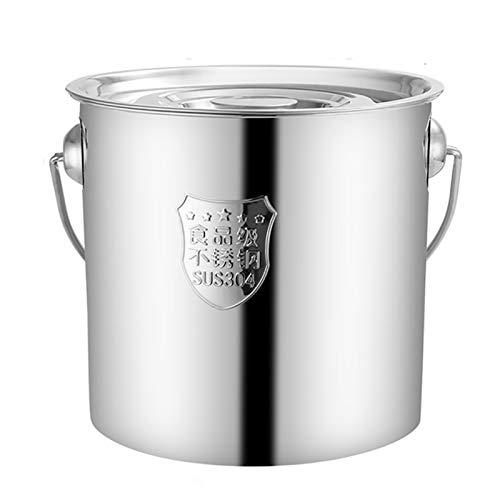 Utensilios de cocina al vapor Pottín, catering/hogar grueso 304 Sopa de acero inoxidable con tapa, para cocina de gas/cocina de inducción (10-30 personas) Charola para hornear (Size : 25CM)