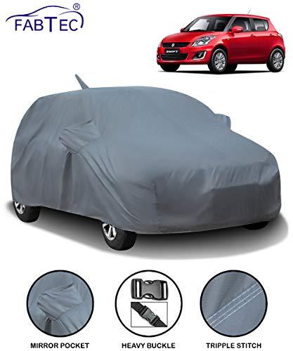 Fabtec Car Body Cover for Maruti Swift (2012-2017) with Mirror Antenna Pocket (Heavy Duty)
