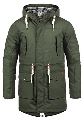 !Solid Chara Herren Winter Jacke Parka Mantel Lange Winterjacke gefüttert mit Kapuze, Größe:XL, Farbe:Climb Ivy (3785)