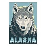 Wolf Poster von Alaska, Wolf, Country-Kunst, Poster, Bild,